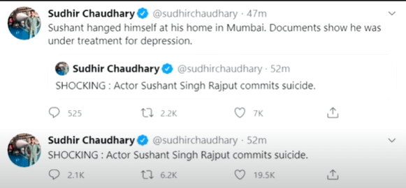 Graphic Leaked Images: Shushant Singh Rajput Commits Suicide - Sudhir Choudhary