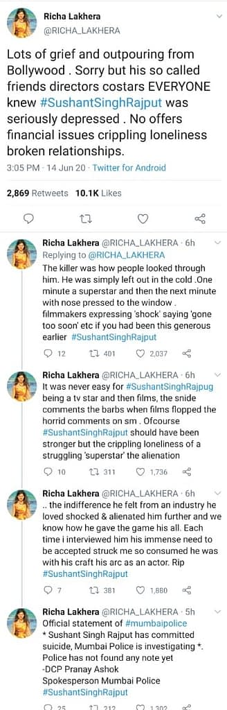 Graphic Leaked Images: Shushant Singh Rajput Commits Suicide - Truth about the suicide of Sushant Singh Rajput by Richa Lakhera